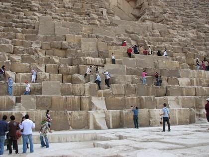 Кладка пирамиды Хеопса
