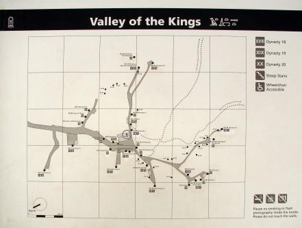Долина Царей. Схема