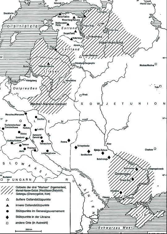 карта плана Ост