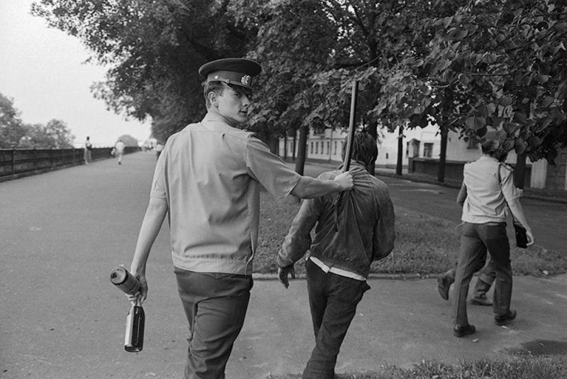 Задержание пьяных. СССР. Конец 80х